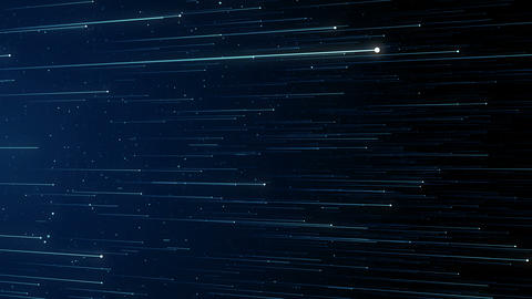 Particles blue bokeh dust abstract light motion titles cinematic background loop GIF