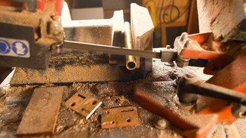 details band sawing machine for ferrous materials, used by blacksmiths to cut Footage