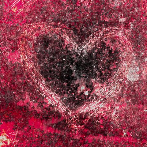Grunge heart Fotografía