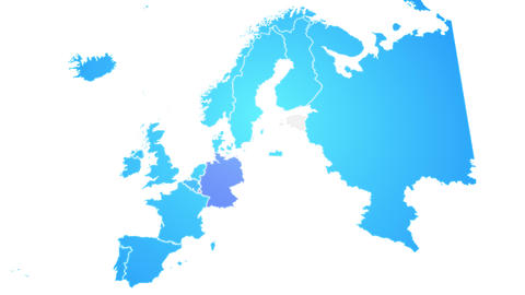 Europe Map Showing Up Intro With New Regions Animation