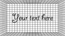 Vintage 3d template with grid on dark background for digital wallpaper design Vector