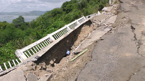 Earthquake Natural Disaster Affected Area Live Action