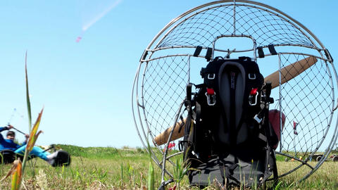 Unidentified participant riding a kitebuggy Footage