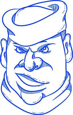 Angry Sailorman Head Cartoon Vector