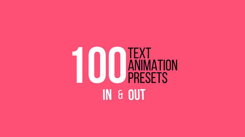 100 Unique Text Presets After Effects Animation Preset