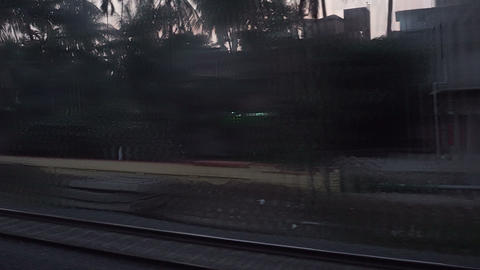 Footage of Indian railway track GIF