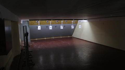 Targets In Shooting Range Live Action