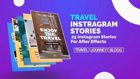 Travel Instagram Stories After Effects Template