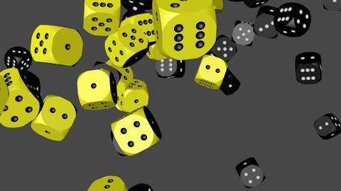 Black and Yellow Dice Collided Stock Video Footage