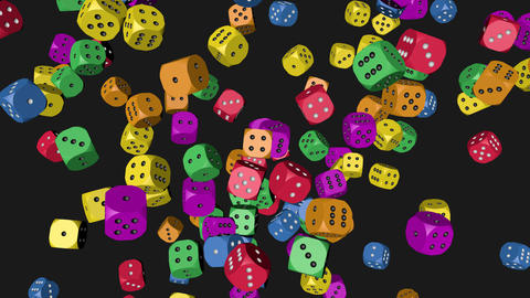 Rainbow Color Dice Collided 4K Animation