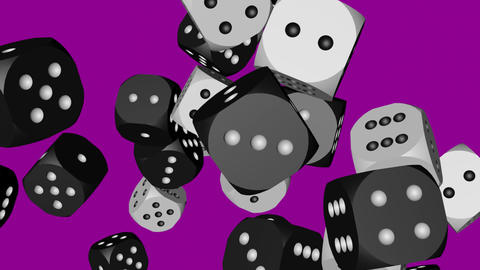 Black and White Dice Collided Stock Video Footage