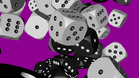 Black and White Dice Collided Animation