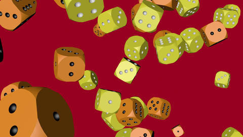 Yellow and Orange Color Dice Collided Stock Video Footage