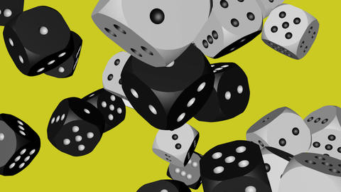 Black and White Color Dice Collided Animation
