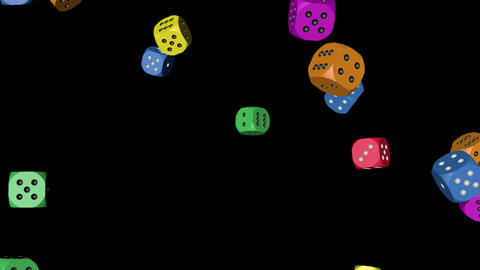Rainbow Color Dice Falling Stock Video Footage
