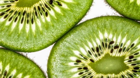 Juicy kiwi slices cinemagraph Footage