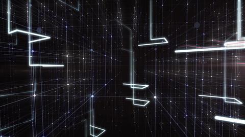 Computer Data Digital Circuit Concept Footage