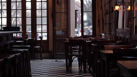 Interior Of A Traditional Argentinean Cafe Footage