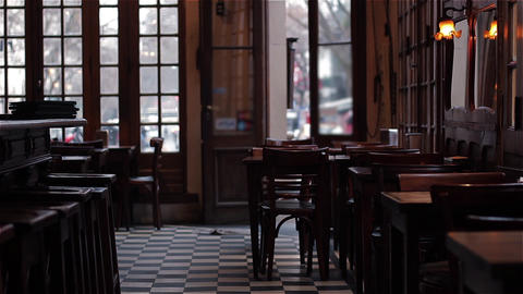 Interior Of A Traditional Argentinean Cafe Stock Video Footage