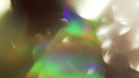 Abstract radiant cheerful festive holographic foil, crystal reflections and Archivo