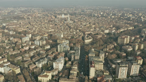 Aerial view of city of Modena. Emilia-Romagna, Italy Live Action