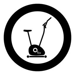Exercise bicycle Stationary bike Exercycle icon black color illustration in Vector