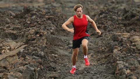 Sport Fitness Running man - male runner closeup 영상물
