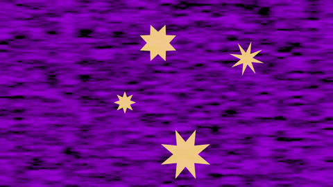 Star shapes moving on purple blurry textured animated background. One of stars Animation