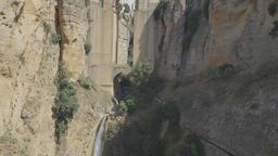 Famous Puente Nuevo bridge across canyon, the main landmark of city of Ronda Footage