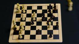 Chess Pieces Chaos GIF