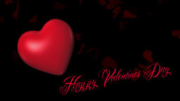 Valentines day beating heart loopable animation, Happy... Stock Video Footage