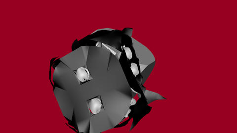 Black Soft and White Solid Dice Collided Animation