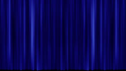 Opening and closing blue cinema / theatre curtains Stock Video Footage