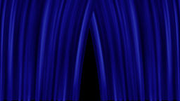 Opening and closing blue cinema / theatre curtains Animation
