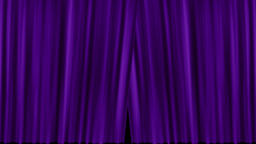 Opening and closing purple cinema / theatre curtains with film countdown Animation