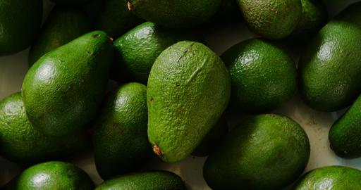 Close-up avocado fruits in basket at supermarket 4k Live Action