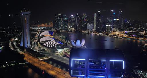 Singapore skyline at night Archivo