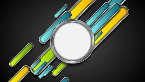 Colorful metallic technology abstract video animation Animation