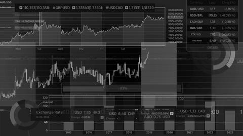 Infographics about trading on the stock exchange on the alpha channel GIF