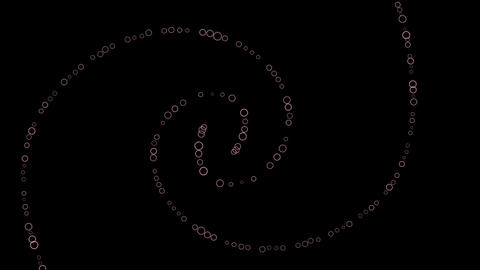 Dots Spiral spin F After Effects Template