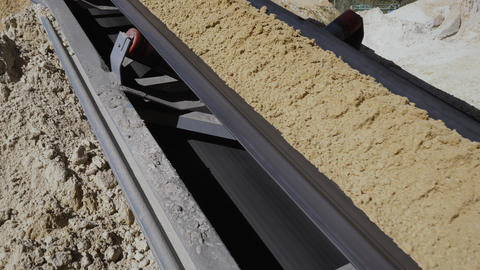 Separation of sand in construction industry. Process refinement of sand for Live Action