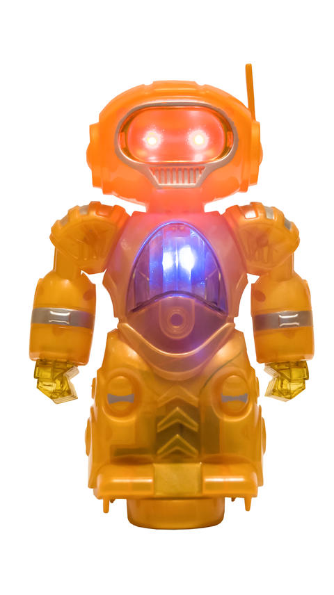 robot with glowing eyes Fotografía