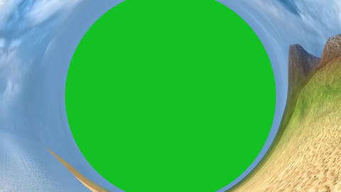 Abstract background of sea with panoramic view and green… Stock Video Footage