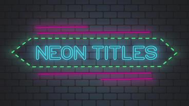 Neon Titles Kit Premiere Pro Template