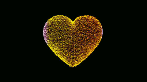 Animated gold particle effect Heart Animation