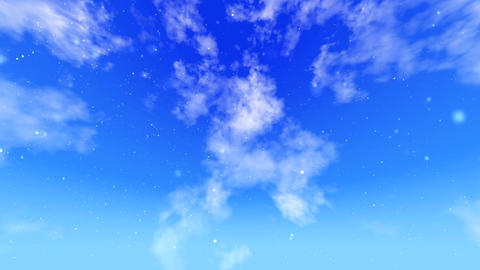 animated Sky background with flying flowers Animation
