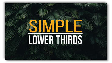 Lower Thirds Plantilla de After Effects