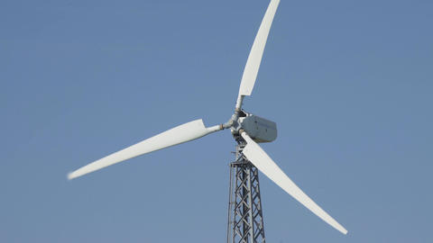 Windmill For Electric Power Production Footage