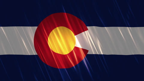 Colorado State Loopable Flag Animation