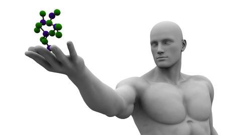 Molecule Structure Footage